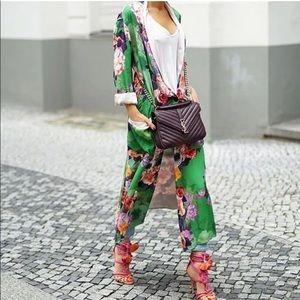 NWT Zara Floral Pajama Style Pant L